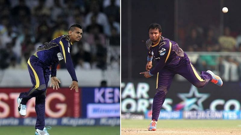 Sunil Narine (L) and Shakib Al Hasan (R) will battle it out for the premium all-rounder slot for KKR in IPL 2021