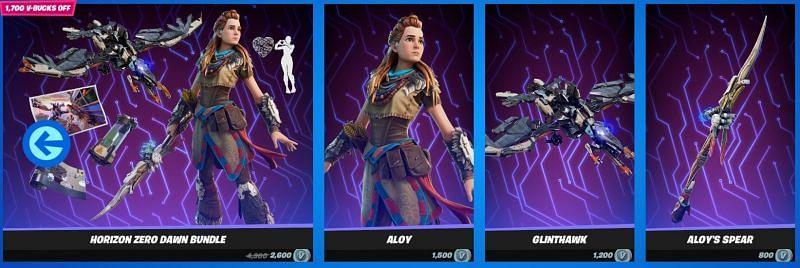 The Aloy bundle (Image via Epic Games)