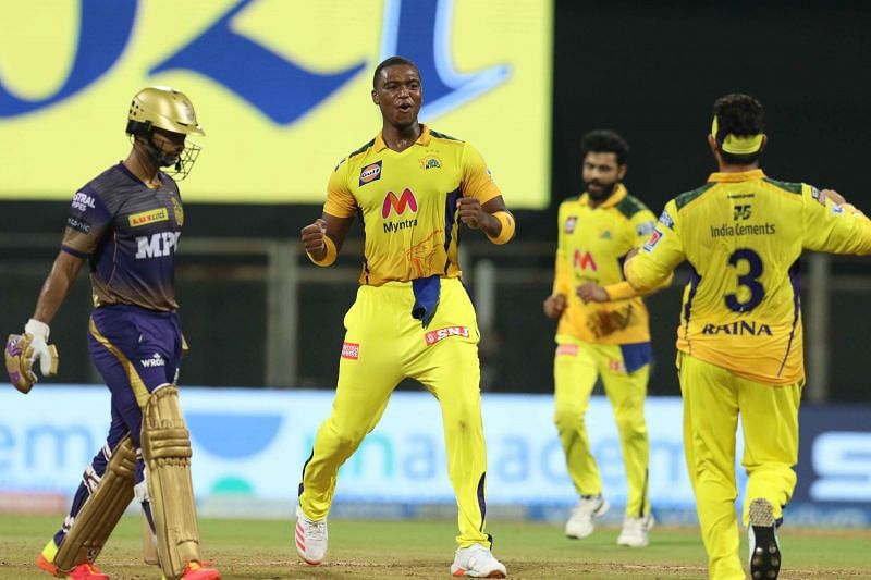 Lungi Ngidi(C) bowled well on his return to the CSK lineup in IPL 2021 (Image Courtesy: IPLT20.com)