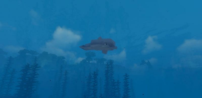 Dolphins will trust the Minecraf player if it is fed fish (Image via Minecraft)
