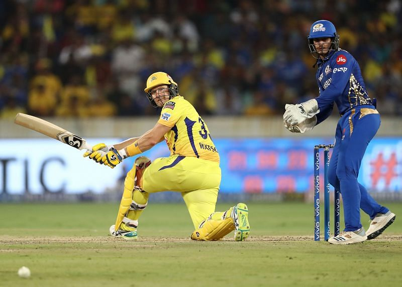 Shane Watson in action for the CSK.