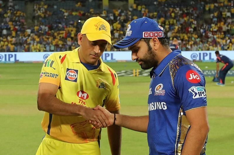 MS Dhoni (left) and Rohit Sharma
