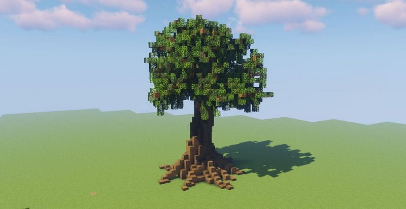 Giant man-made Minecraft tree (Image via Reddit)