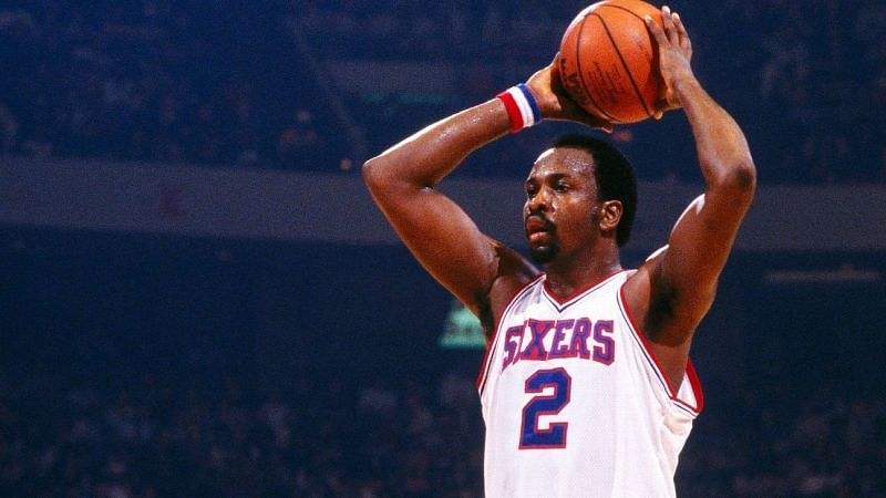 Moses Malone with the Philadelphia 76ers