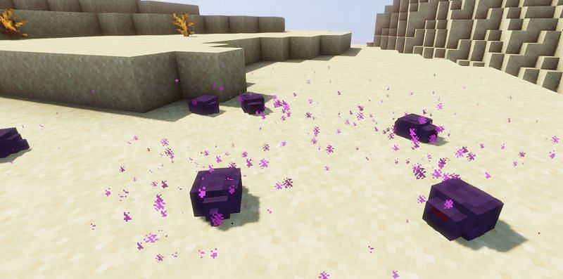 Shown: An infestation of Endermites! (Image via Minecraft)