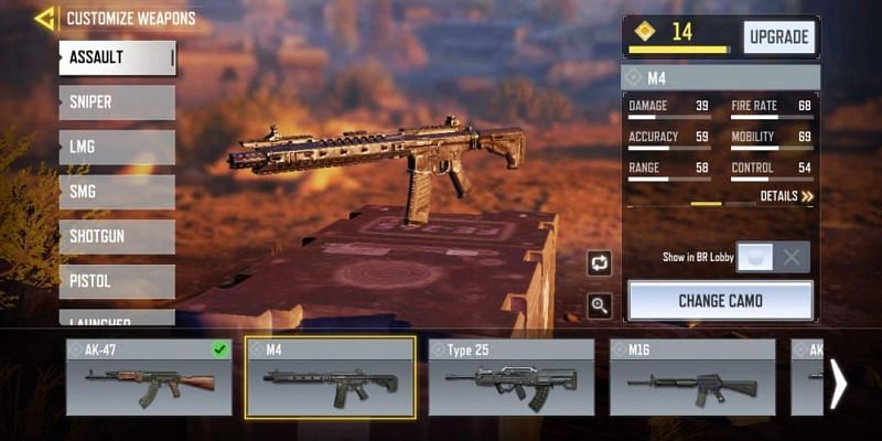 M4 with in-game stats (Image via Activision)