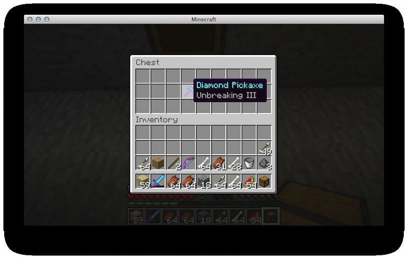 Unbreaking will allow the player to get more uses out of the pickaxe without it breaking as easily (Image via Empire Minecraft)