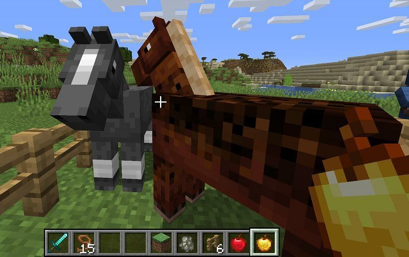 Golden apples have multiple horse-specific uses in Minecraft