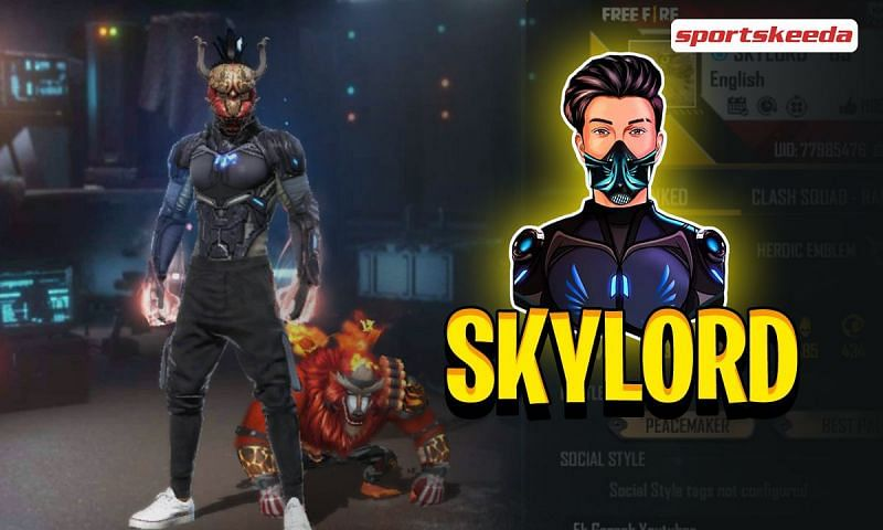Skylord is a popular Indian Free Fire content creator