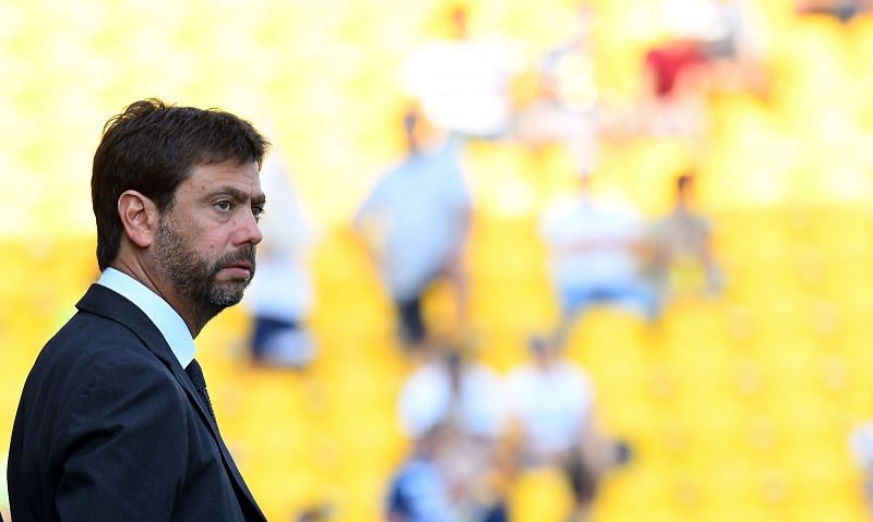 Andrea Agnelli calls off ESL plans. (Photo by Alessandro Sabattini/Getty Images)