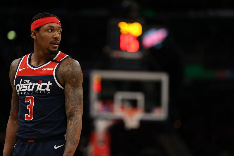 Bradley Beal (#3) of the Washington Wizards