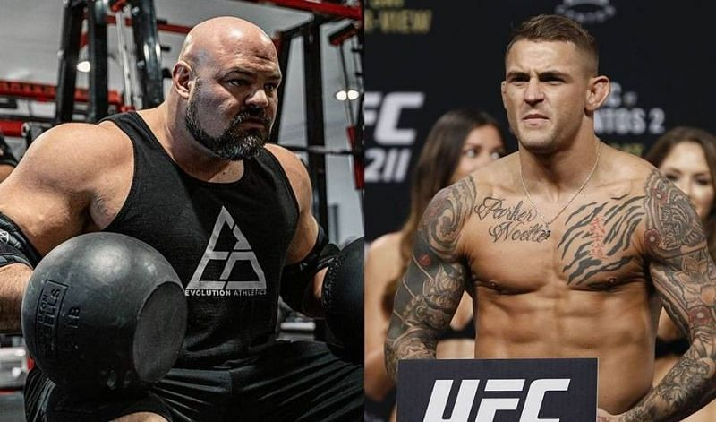 Brian Shaw (left); Dustin Poirier (right)