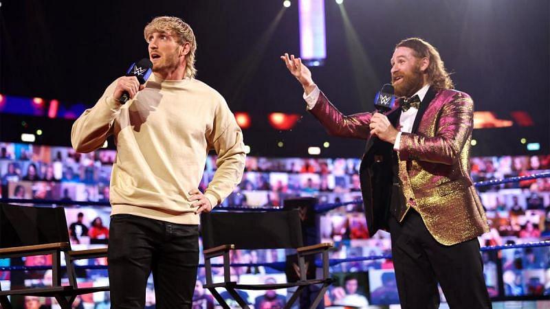 Sami Zayn and Logan Paul in a very entertaining segment