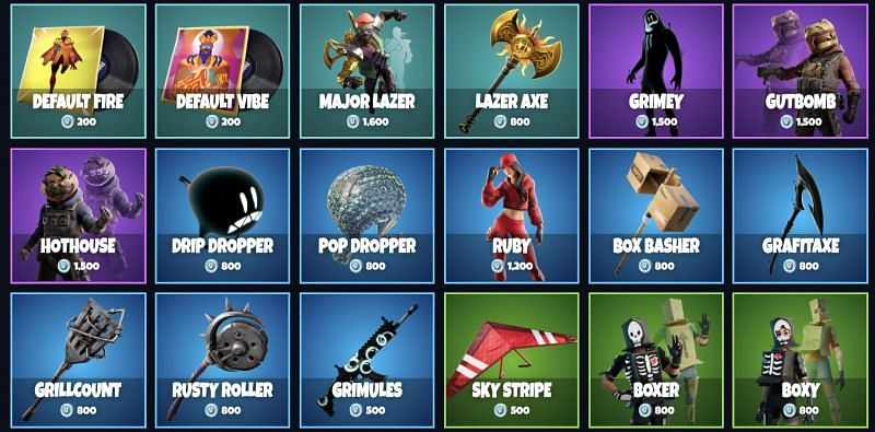 Fortnite Item Shop April 5 2019 Fortnite Item Shop Update For April 2021 Every Purchasable Item Available In The Game