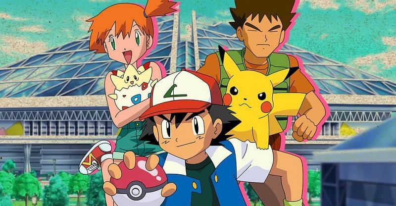 Ash, Misty, and Brock in the anime (Image via The Pokemon Company)