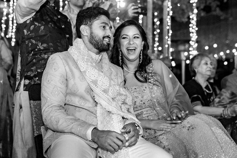 Karun Nair's Marriage pics with Sanaya Tankariwala