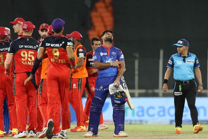 DC fell short by one run against RCB. (Image Courtesy: IPLT20.com)