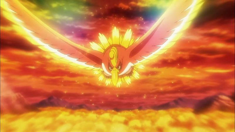 Ho-Oh in the anime (Image via The Pokemon Company)