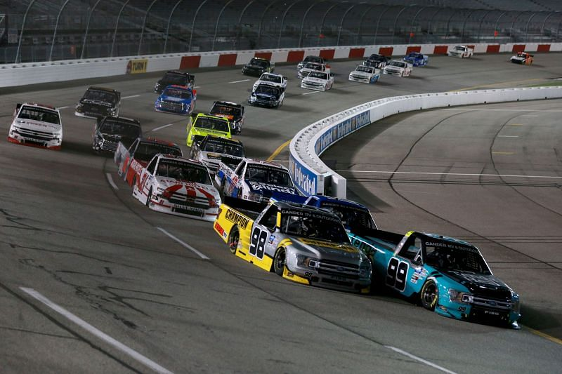 Ben Rhodes will lead the field at Saturday's ToyotaCare 250. Photo by Sean Gardner/Getty Images