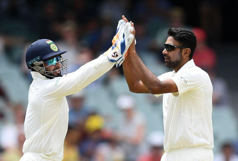 Rishabh Pant (left) & Ravichandran Ashwin.