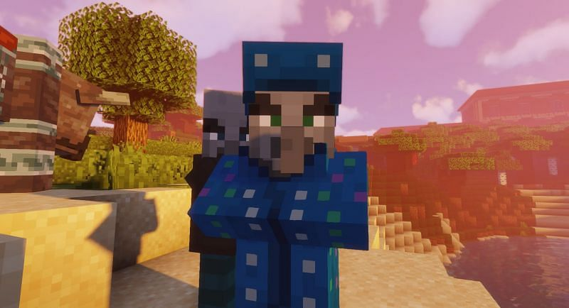 An Illusioner hanging with his buddies (Image via Minecraft)
