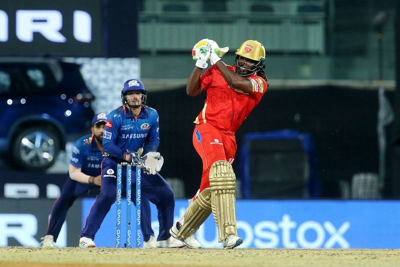 Chris Gayle played a responsible knock against MI
