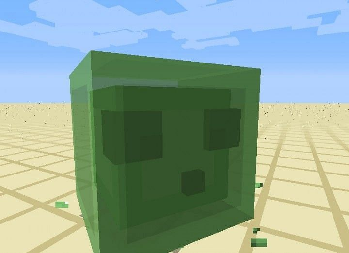 Slimes in Minecraft (Image via planetminecraft)