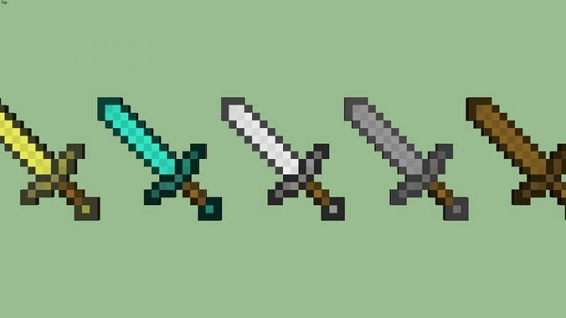 Knockback can be placed on a sword using an enchantment table or an anvil (Image via 3dwarehouse)