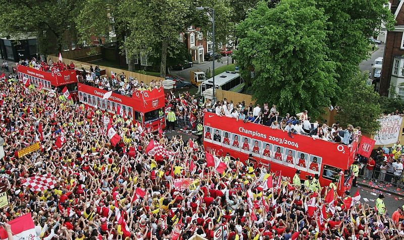 Arsenal last league title came in 2004. (Photo by Clive Mason/Getty Images)