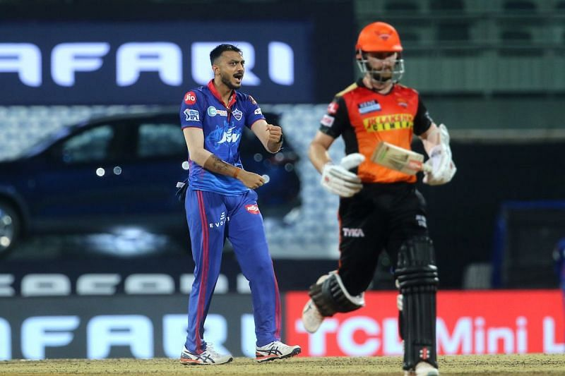 Axar Patel (left) conceded just 8 runs in the Super Over [Credits: IPL]