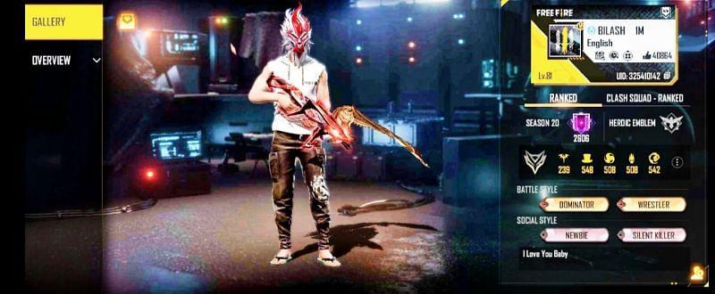 Bilash Gaming की Free Fire ID
