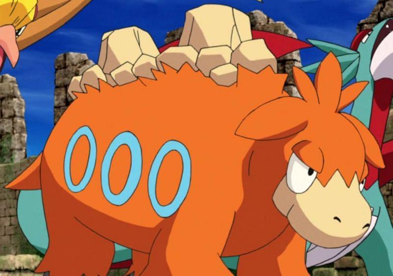 Camerupt in the anime (Image via The Pokemon Company)