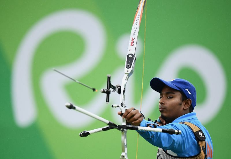 Atanu Das secured second position among recurve men in the qualiifcation rounds at the Archery World Cup