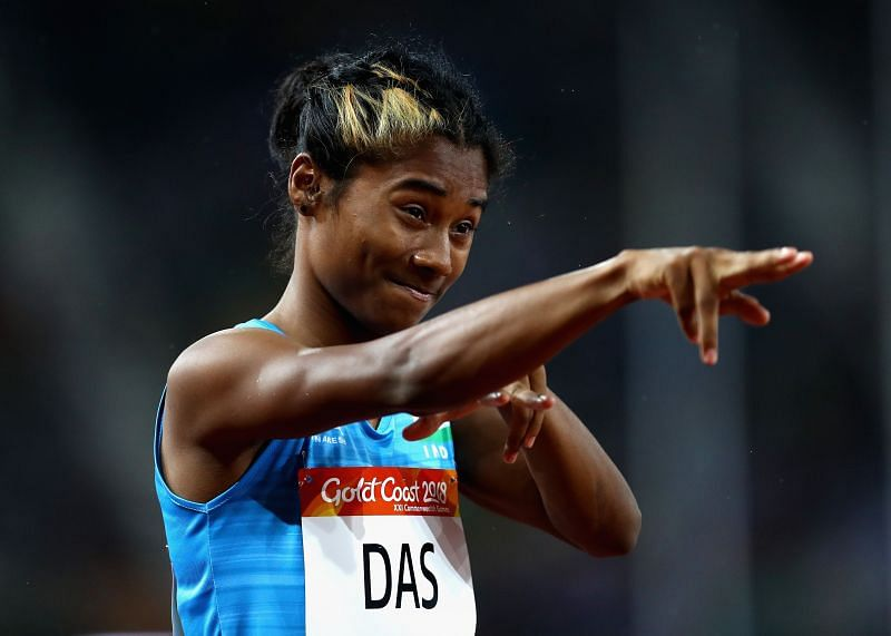 Hima Das (above) and Dutee Chand might miss World Athletics Relays after flight cancellation