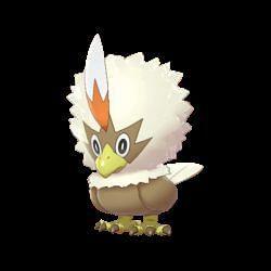 The shiny form of Rufflet (Image via The Pokemon Company)