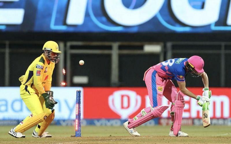 Jos Buttler gets bowled by Ravindra Jadeja (Photo: BCCI)