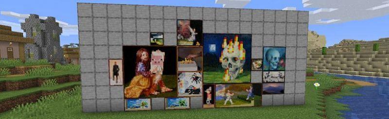 Assortment of Minecraft paintings (Image via programguides)