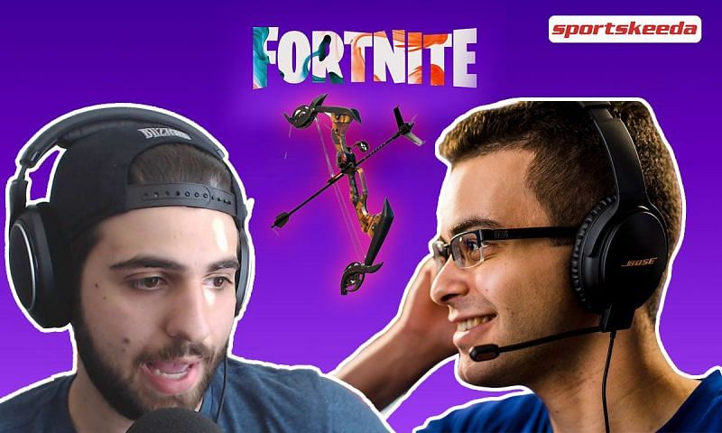 Sypherpk and Nick Eh 30 are in love with the Exotic Grappler Bow (Image via Sportskeeda)