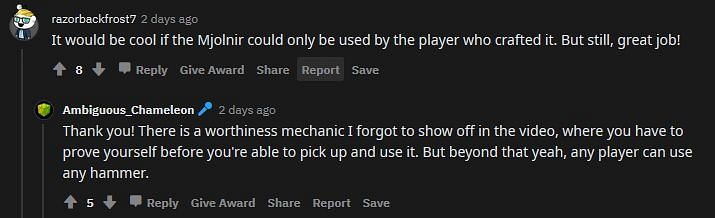 Shown: A certain mechanic requires players to prove themselves before they can pick up Mjolnir (Image via Reddit)