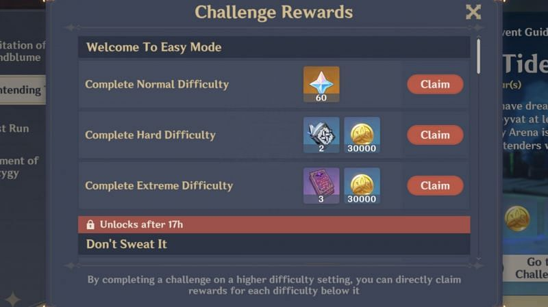 """""""Welcome to Easy Mode"""" reward (Day 1)"""