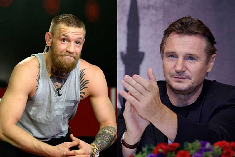 Conor McGregor and Liam Neeson