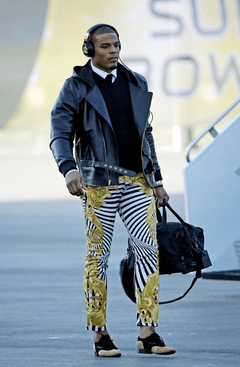 Cam Newton post-game outfit