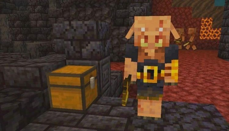 Piglins can be distracted with golden apples in Minecraft
