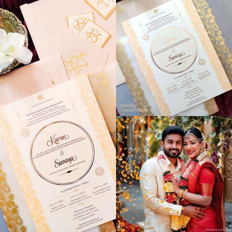 Karun Nair's Wedding Pics with Sanaya