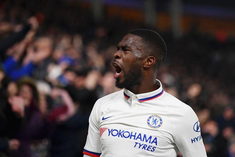 Fikayo Tomori celebrates after scoring for Chelsea