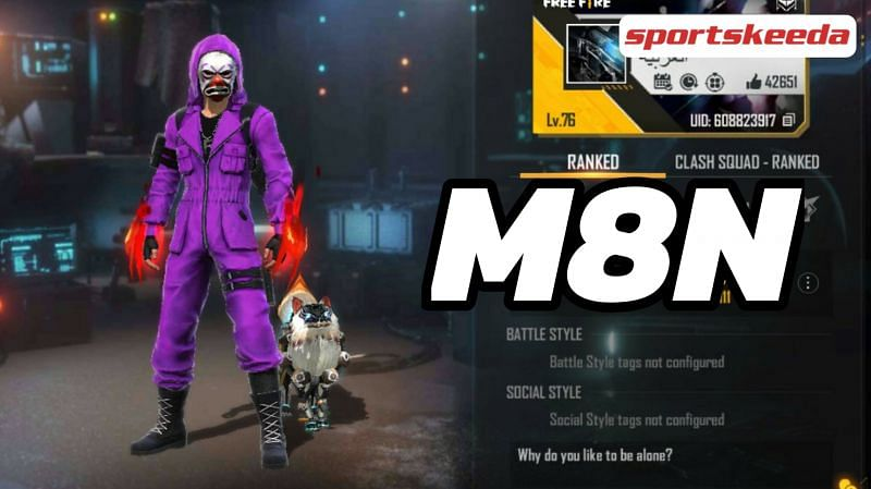 M8N is one of the most popular Free Fire content creators in the world