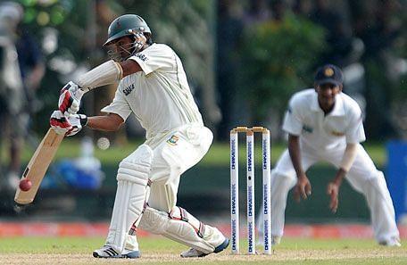 Mohammad Ashraful during his 190 against Sri Lanka Source: AFP