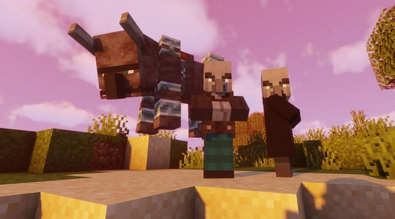 A gang of Illagers (Image via Minecraft)