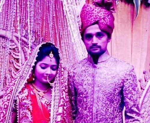 Shahbaz Nadeem Marriage with  Saman Akhtar