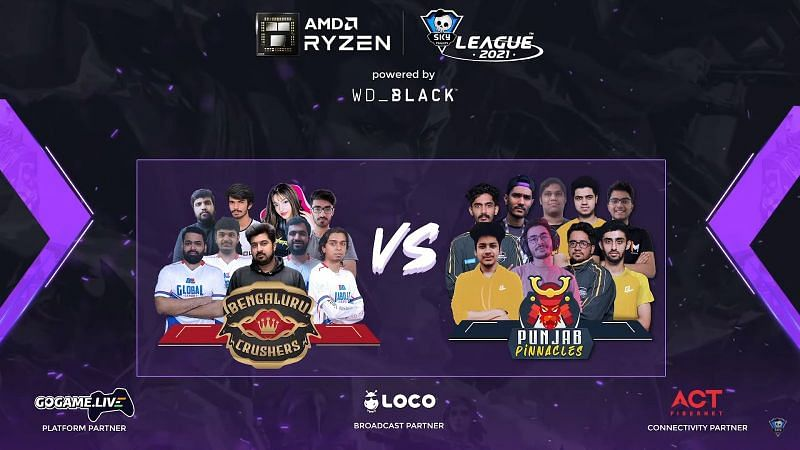 Punjab Pinnacles secure their first victory (Image via Skyesports League)